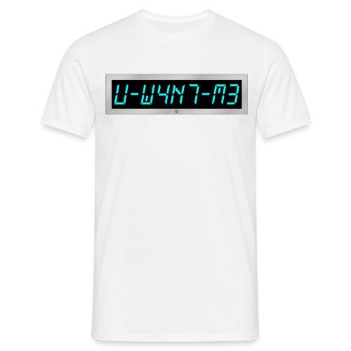 Subliminal t-shirt - U want me - Men's T-Shirt