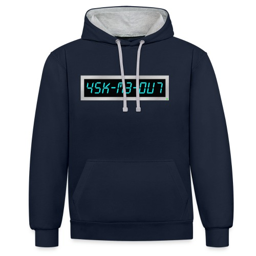 Subliminal hoodie - Ask me out - Contrast Colour Hoodie
