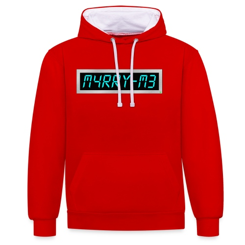 Subliminal hoodie - Marry me - Contrast Colour Hoodie
