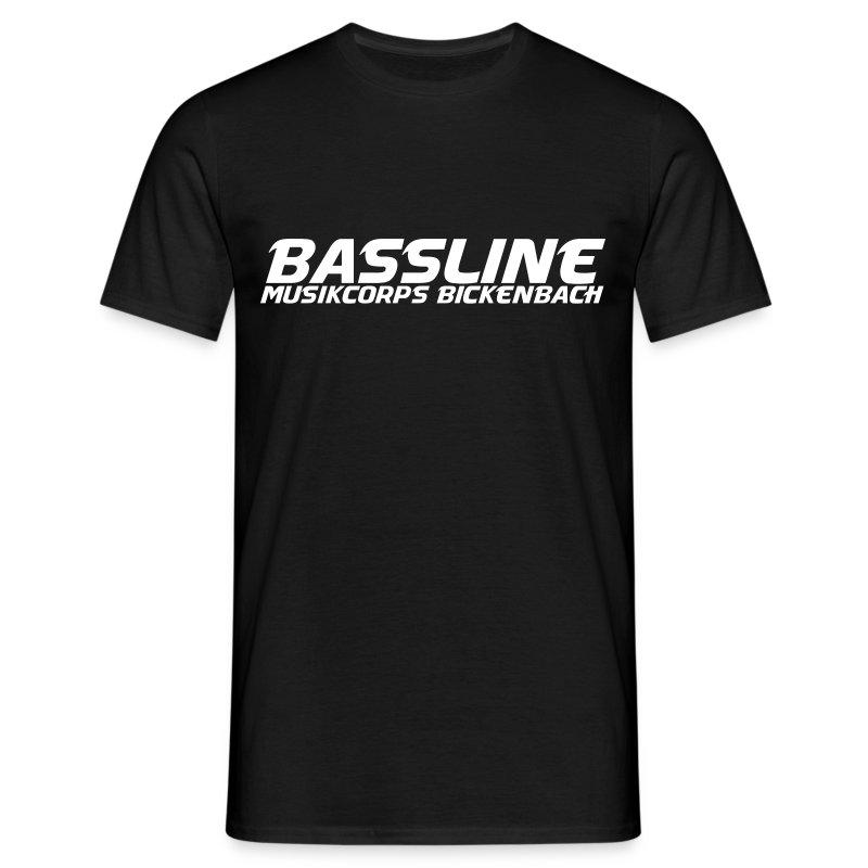 BASSLINE T-SHIRT SCHWARZ - Männer T-Shirt