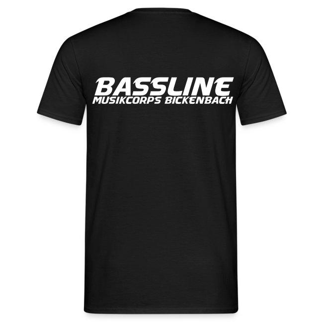 BASSLINE T-SHIRT SCHWARZ