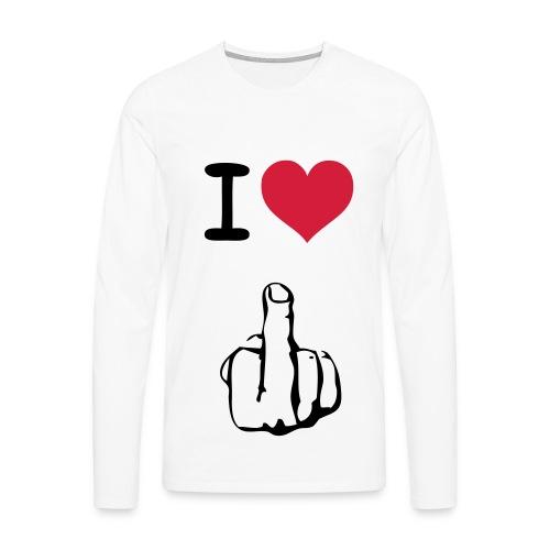 I LOVE **** Langarm T-Shirt - Männer Premium Langarmshirt