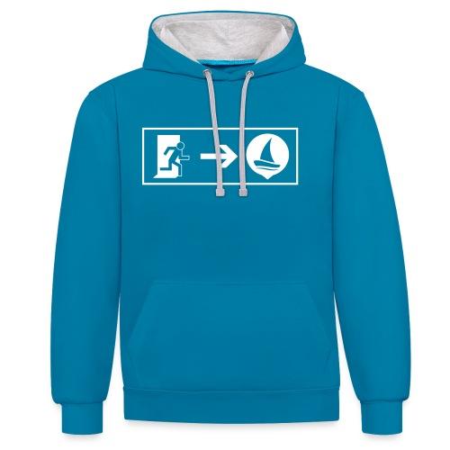 SailNow Sweatshirt - Kontrast-Hoodie