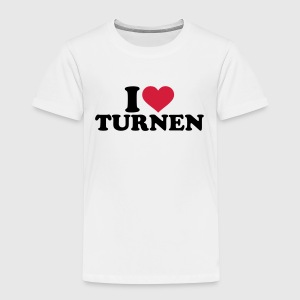 I love Turnen T-Shirts - Kinder Premium T-Shirt