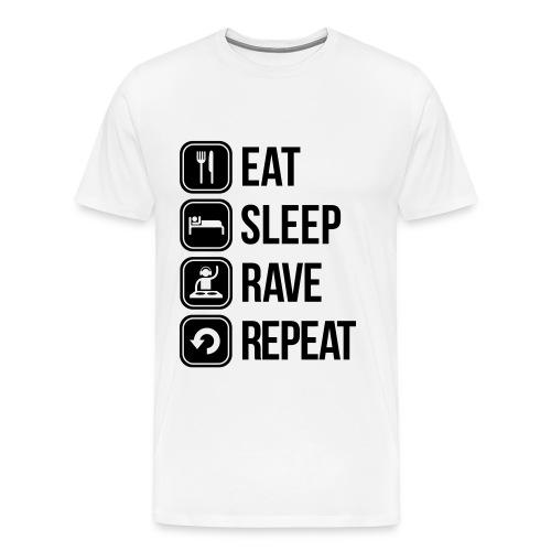 EAT SLEEP RAVE REPEAT - TShirt - Männer Premium T-Shirt