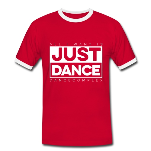 Kontrast Shirt Men JUST DANCE WHITE red/white - Männer Kontrast-T-Shirt