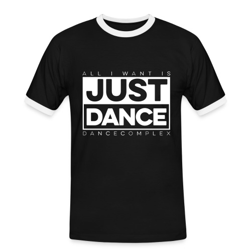 Kontrast Shirt Men JUST DANCE WHITE black/white - Männer Kontrast-T-Shirt