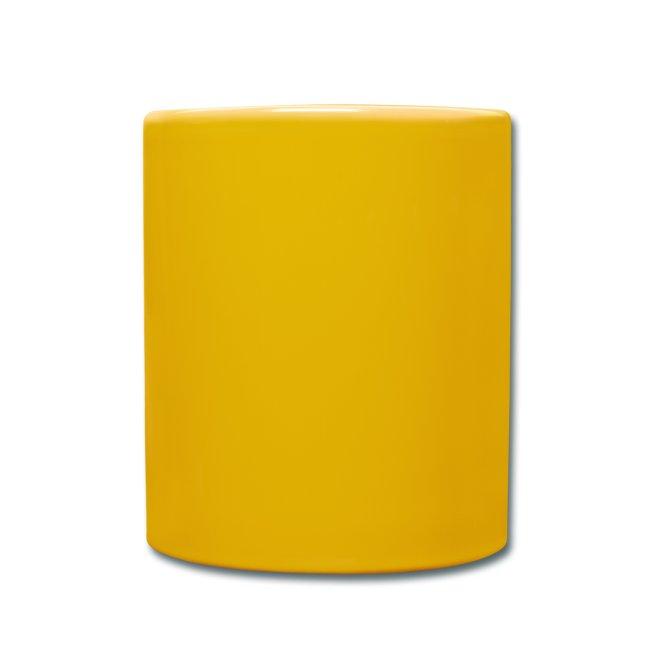 Coolaste muggen i fräck gul färg