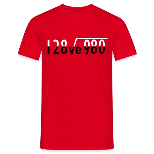 Maths I Love You - Men's T-Shirt