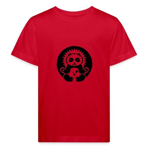 Panda Kinder-Bio-T-Shirt mit Flockdruck  - Kinder Bio-T-Shirt