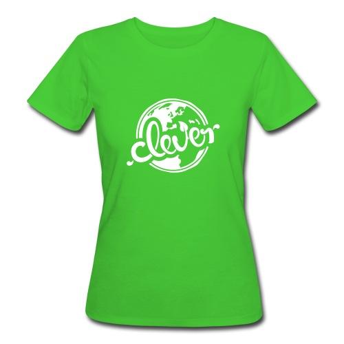 Clever Bio-T-Shirt mit Flockdruck (w) - Frauen Bio-T-Shirt