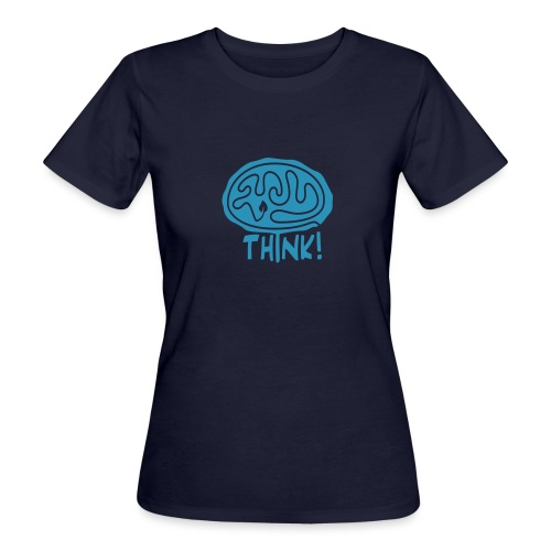 Think Bio-T-Shirt mit Flockdruck (w) - Frauen Bio-T-Shirt