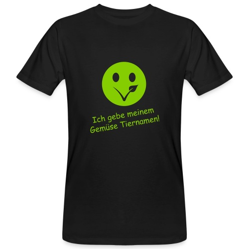 Smiley Bio-T-Shirt mit Flexdruck (m) - Männer Bio-T-Shirt