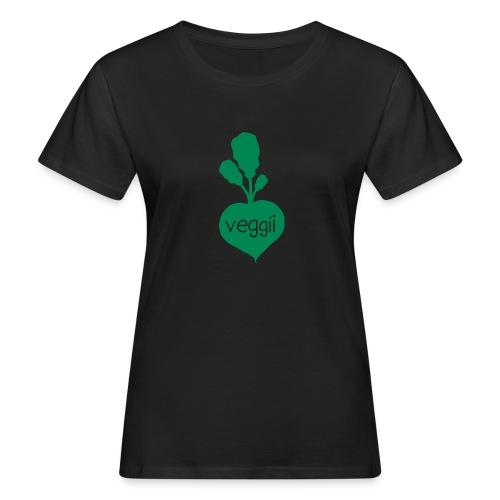 Veggii Bio-T-Shirt mit Flockdruck (w) - Frauen Bio-T-Shirt