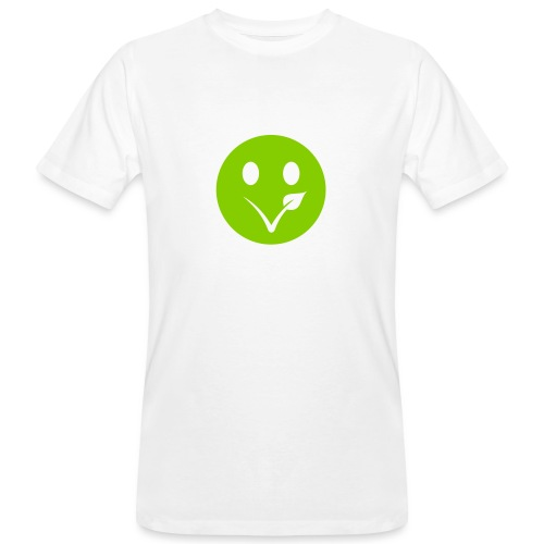 Smiley Bio-T-Shirt mit Flexdruck (m) - Männer Bio-T-Shirt
