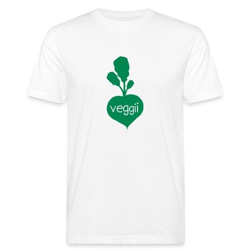 Veggii Bio-T-Shirt mit Flockdruck (m) - Männer Bio-T-Shirt