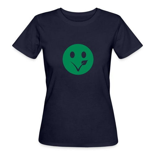 Smiley Bio-T-Shirt mit Flockdruck (w) - Frauen Bio-T-Shirt