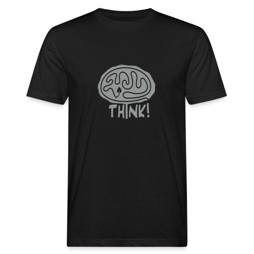 Think Bio-T-Shirt mit Flockdruck (m) - Männer Bio-T-Shirt