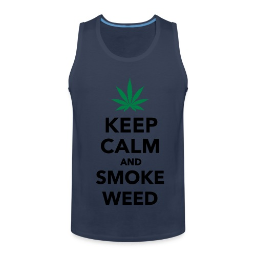 Keep Calm and smoke Weed - Débardeur Premium Homme
