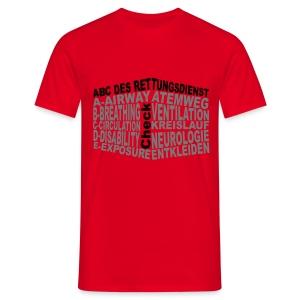 Herren Shirt Rettungsdienst ABC - Männer T-Shirt