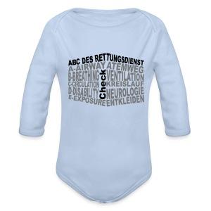 Babystrampler Rettungsdienst ABC - Baby Bio-Langarm-Body