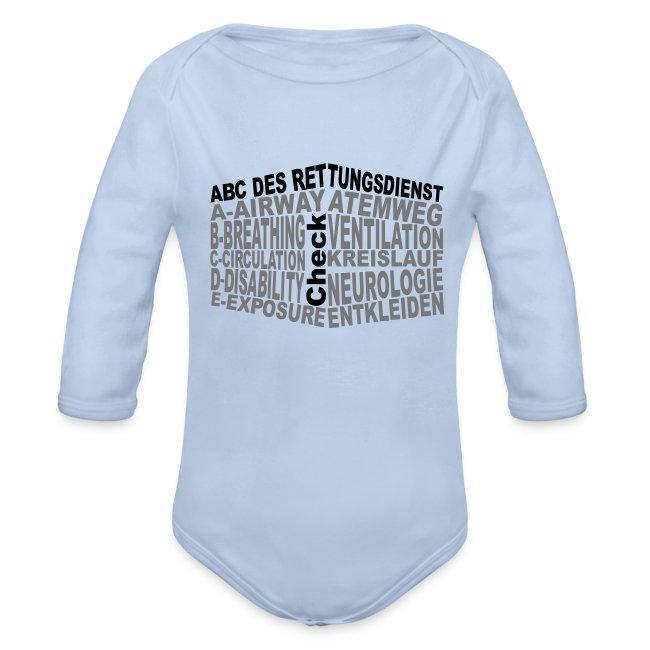 Babystrampler Rettungsdienst ABC