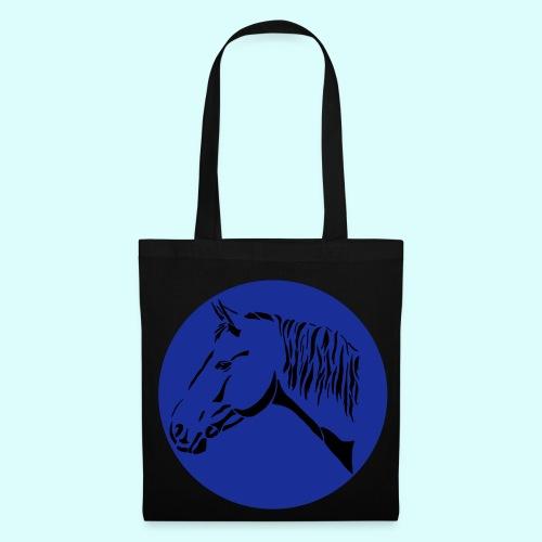 Stofftasche mit Pferdekopf im Kreis - Stoffbeutel