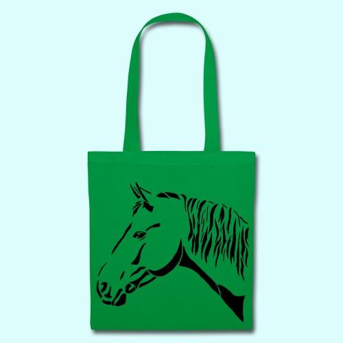 Stofftasche mit Pferdekopf - Stoffbeutel