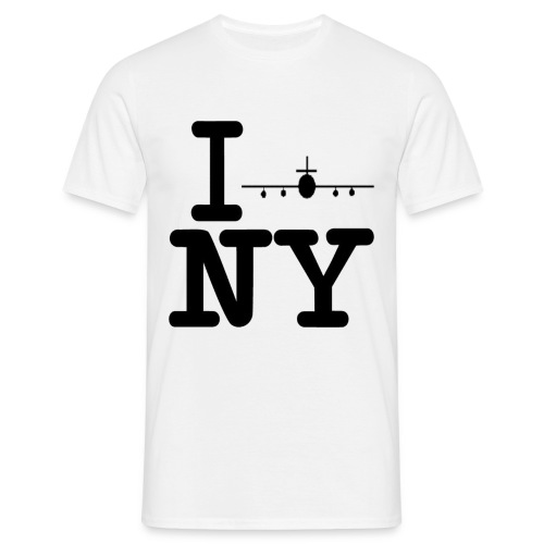 I fly New York - Mann - Männer T-Shirt