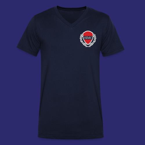 SIMC Men's T-Shirt V-neck - Men's Organic V-Neck T-Shirt by Stanley & Stella
