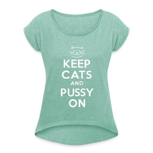 Cats 44 - Women's T-Shirt with rolled up sleeves