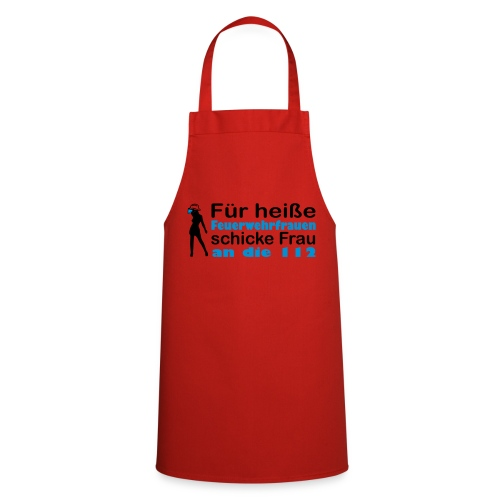 Schürze für die heiße Feuerwehrfrau - Kochschürze