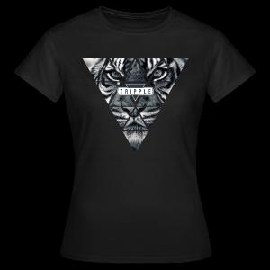 Tripple Tiger Face Woman - Vrouwen T-shirt