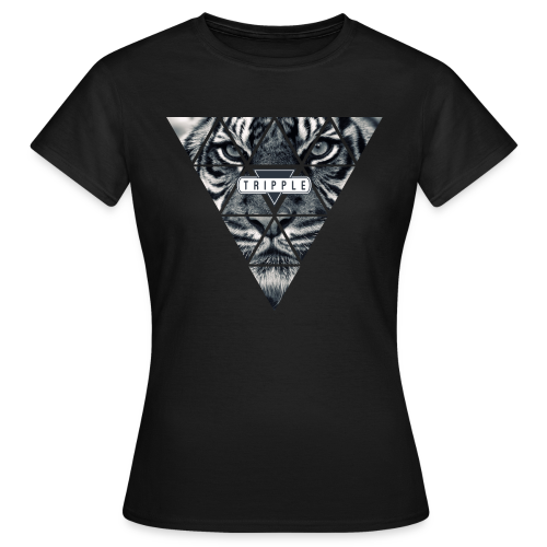 Tripple Tiger Face Woman - Vrouwen T-shirt