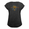 Women's T-Shirt with rolled up sleeves - Parvati Trishula by Rusty PsyFly