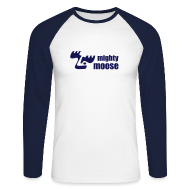 Langarmshirts ~ Männer Baseballshirt langarm ~ Mighty Moose