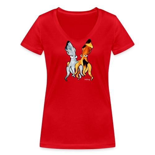 Bio Tshirt Fiou ColV ELLE - T-shirt bio col V Stanley & Stella Femme