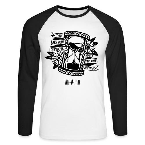 Time - Men's Long Sleeve Baseball T-Shirt