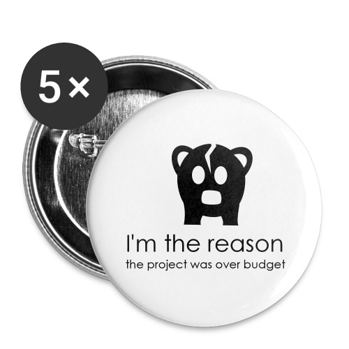 Over budget - Buttons large 56 mm