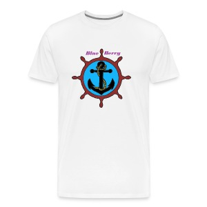 TS HOMME ANCRE MARINE BLUE BERRY - T-shirt Premium Homme