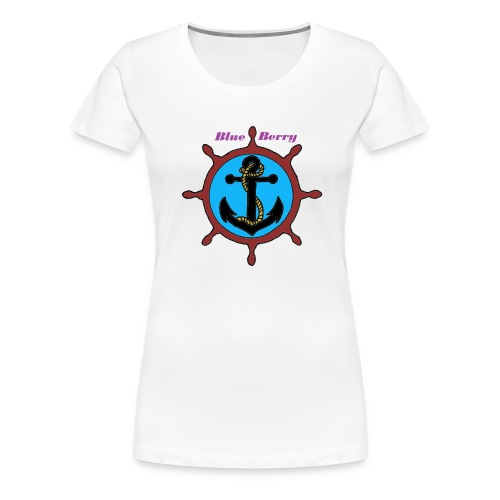 TS FEMME ANCRE MARINE BLUE BERRY - T-shirt Premium Femme