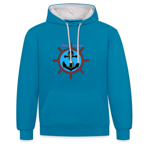 SWEAT-SHIRT UNISEXE ANCRE MARINE BLUE BERRY - Sweat-shirt contraste