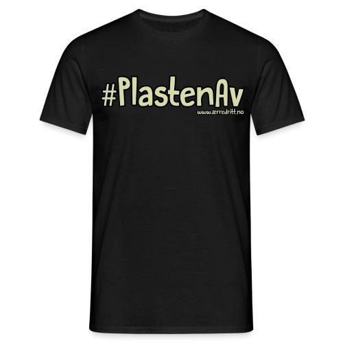 #PlastenAv - Mann - T-skjorte for menn