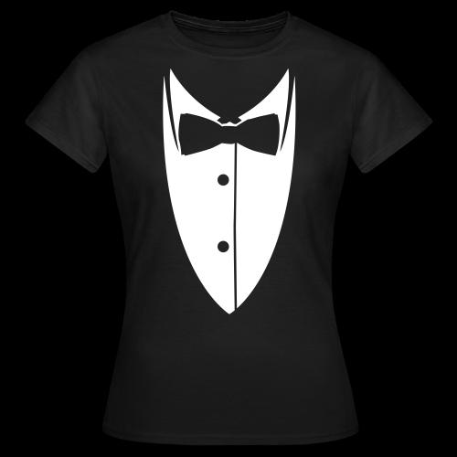 Tee shirt Femme Colle de costume - T-shirt Femme