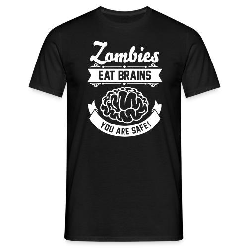 Zombie eat brains - Maglietta da uomo