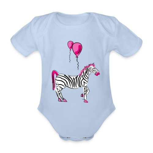 Dream On Little Zebra - Baby Bio-Kurzarm-Body