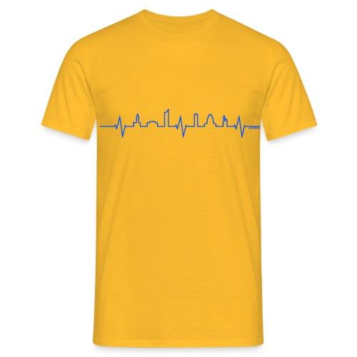 LE:BEat (blau auf gelb) - Männer T-Shirt