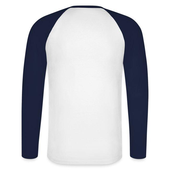 Langärmliges Baseballshirt mit blauen Ärmeln Männer