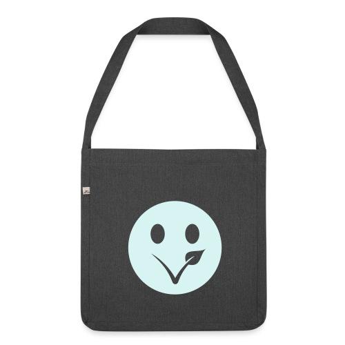 Smiley Recycling-Tasche mit Flexdruck reflektierend - Schultertasche aus Recycling-Material