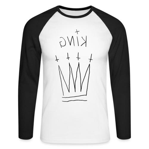 KING WHT - Männer Baseballshirt langarm